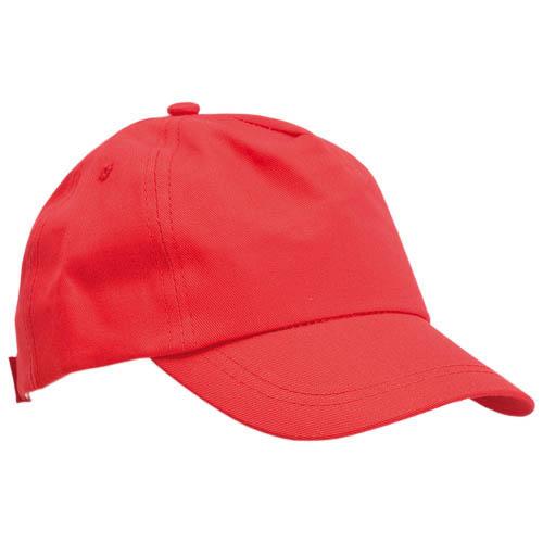 Gorras talla niño de color rojo