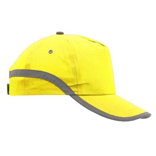 Gorra con banda reflectante amarilla