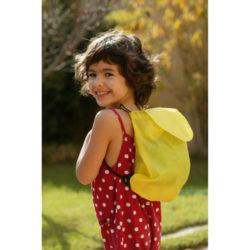 Mochilas de cuerdas infantiles amarillas