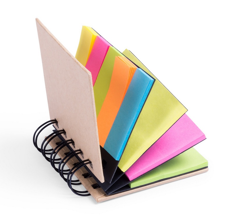 Libretas con notas adhesivas