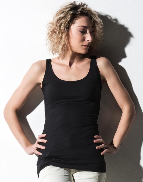 Camisetas tirantes organicas mujer