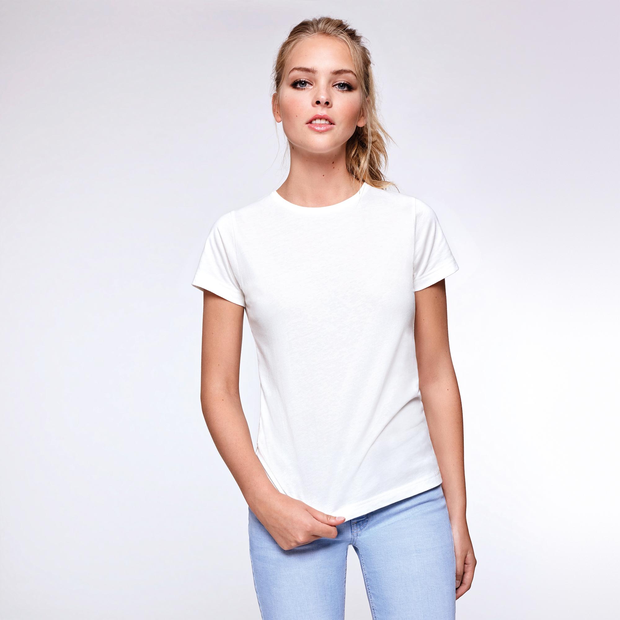 Camisetas blancas organicas mujer