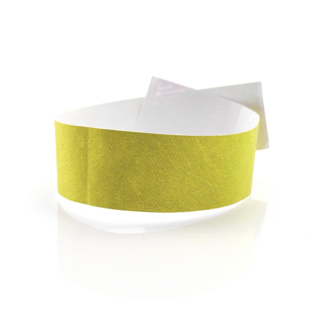 Pulseras de papel baratas amarillas