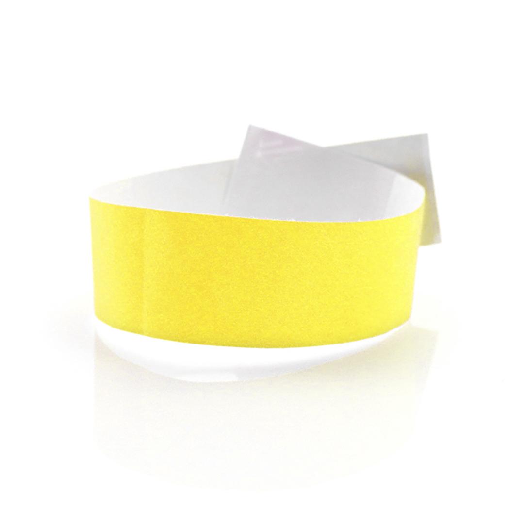 Pulseras de tela baratas amarillo fluor