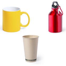 Vasos, bidones, tazas, cubiertos, fiambreras