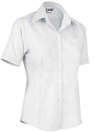 Camisas blancas maga corta mujer: 6,75 euros unidad