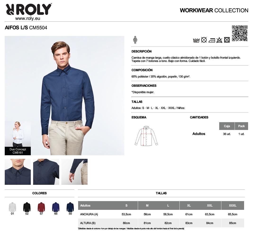 Camisas de manga larga Roly