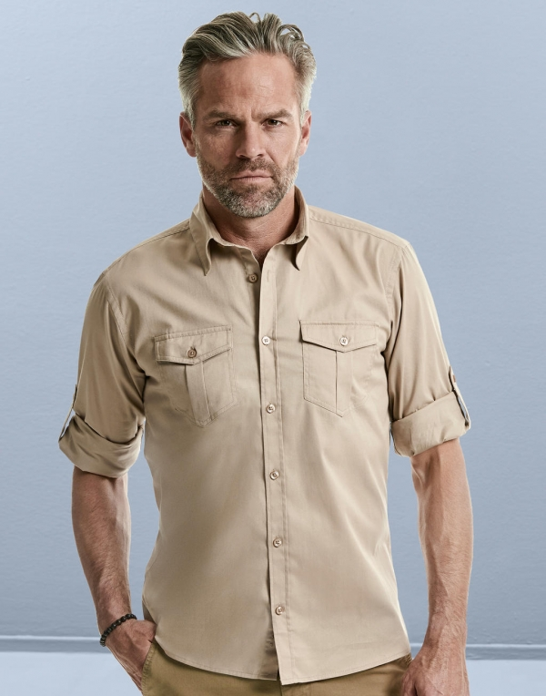 Camisas safari hombre