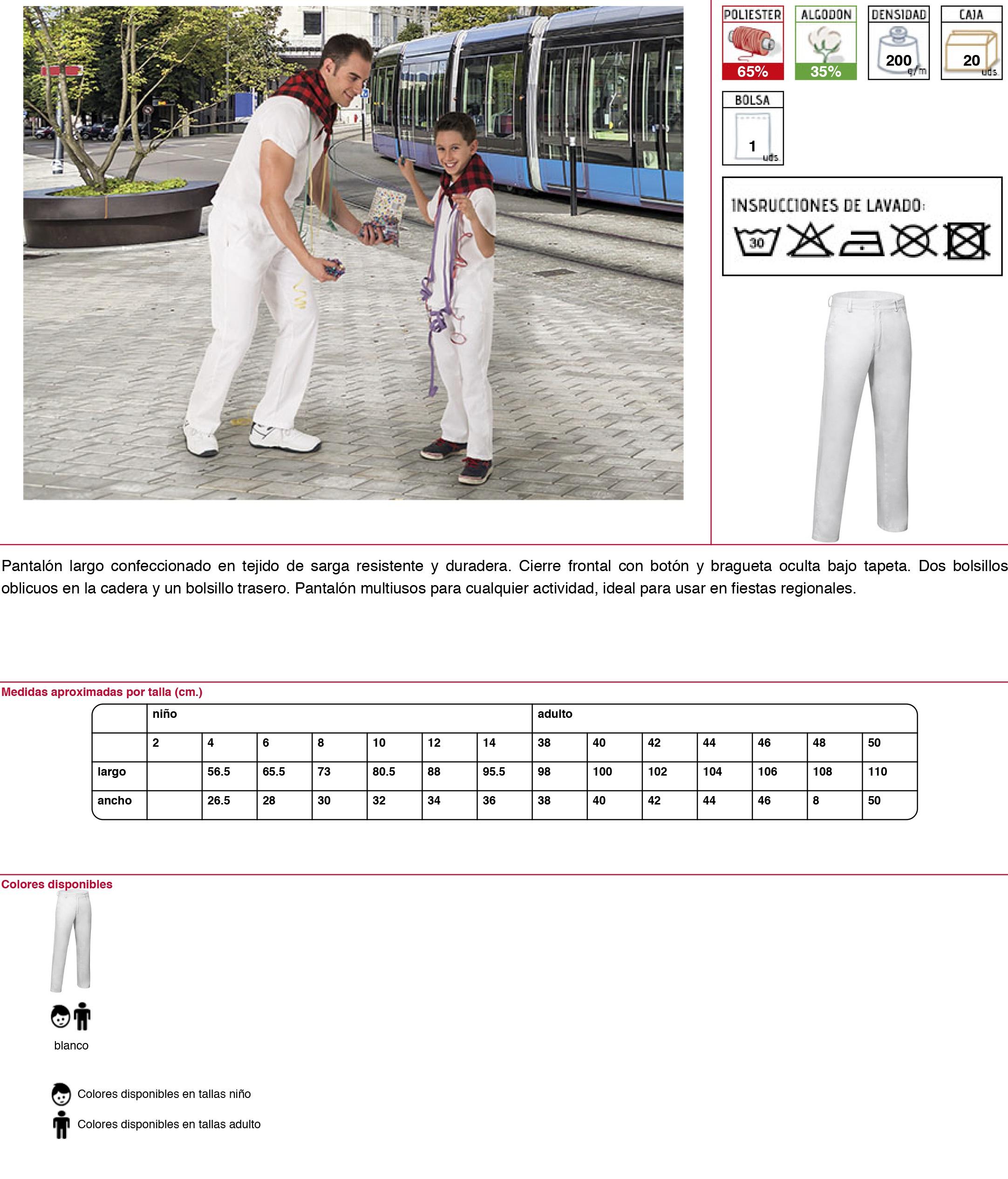 Pantalones blancos baratos: 6,40€