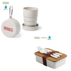 Vasos, bidones, tazas, cubiertos y fiambreras ecologicas