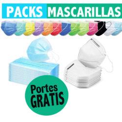 Packs mascarillas PORTES PAGADOS